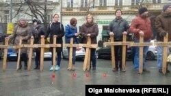У Празі вшанували Героїв Небесної сотні і полеглих на сході України військових-захисників