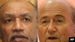 Недавние конкуренты в борьбе за пост президента ФИФА: Мохаммед бин Хаммам и Йозеф Блаттер