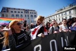 Учасники маршу за права геїв, Тбілісі, 17 травня 2017 року