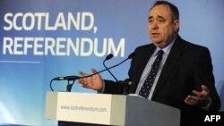 Ministri i Parë i Skocisë, Alex Salmond.