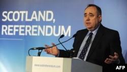 Ministri i parë i Skocisë, Aleks Salmond, mban një fjalim për të nisur konsultimet për një referendum mbi pavarësinë.