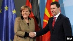 Средба на премиерот Никола Груевски со германската канцеларка Ангела Меркел во Берлин на 14 февруари 2012.