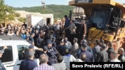 Protesta radnika Metalca u Nikšiću