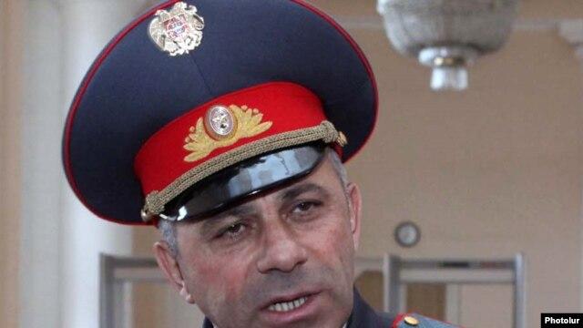 Armenia -- Alik Sargsian, chief of the national police, speaks to journalists, 14Apr2011.