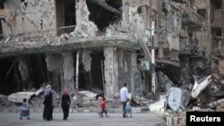 Наслідки бойових дій у місті Дейр-аз-Зор, вересень 2013 року (ілюстративне фото)