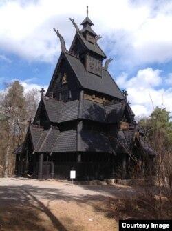 Норвегия. Церковь из Гуля в Народном музее