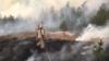 Пажар учарнобыльскай зоне: агонь наподступах дааб'ектаў ЧАЭС зьліквідавалі. ВІДЭА