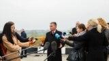 Лидер Приднестровья Вадим Красносельский на мосту в Гура-Быкулуй, 18 ноября 2017 года