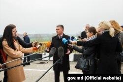 Liderul transnistrean, Vadim Krasnoselski,la redeschiderea podului pe la Gura Bâcului , 18 noiembrie 2017