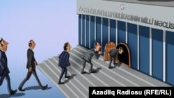 Parlament seçkiləri. Karikatura