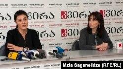 Специалист по вопросам здравоохранения UNICEF Тамар Угулава и представитель офиса UNICEF в Грузии Майя Курцикидзе