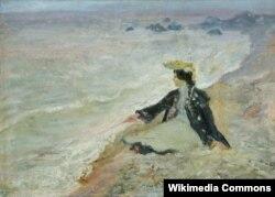Леў Альпяровіч. Жанчына ля мора (1905)