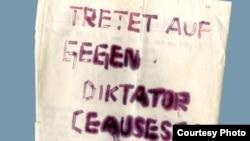 """Detaliu de pe coperta volumului """"Entzweite Freunde. Rumänien, die Securitate und die DDR-Staatssicherheit 1950 bis 1989"""", de Georg Herbstritt."""