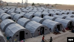 A refugee camp for Syrian Kurds fleeing the violence in Kobani in Turkey's Suruc district