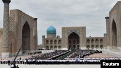 Похороны президента Узбекистана Илама Каримова в Самарканде