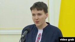 Ukrainian parliamentarian Nadia Savchenko (file photo)