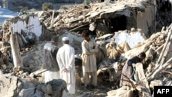 Collapsed houses near Wam, one of the villages surrounding the town of Ziarat