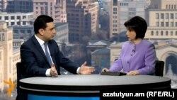 Министр здравоохранения Армении Армен Мурадян в студии Радио Азатутюн, 16 января 2016 г.