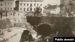 Засклеплення русла Полтви, фото XIX століття