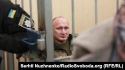 Микола Коханівський у залі суду ще до звільнення з-під варти, 24 жовтня 2017 року
