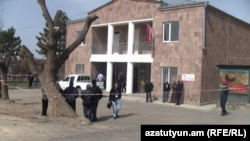 Armenia -- The village administration building in Proshian, 2Apr2013