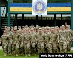 Під час церемонії відкриття військових навчань «Рапід Трайдент». Львівщина, Яворівський полігон, 11 вересня 2017 року