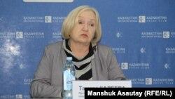 Глава прессозащитной организации «Адил соз» Тамара Калеева.