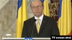 "Romania, president Traian Basescu warning against the new Romanin gvt ""attacking state institutions"""