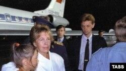 Раиса Горбачева после возвращения из Фороса