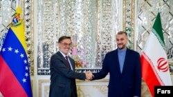 دیدار حسین امیرعبداللهیان، وزیر خارجه ایران با فلیکس پلاسنسیا گونسالس، وزیرخارجه ونزوئلا در تهران