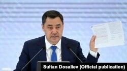 Президент Садир Жапаров 23 октябрда Бишкекда матбуот анжумани ўтказди.