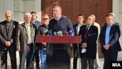 Лидерот на опозициската ВМРО-ДПМНЕ Христијан Мицкоски