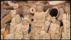 У Китаї знищили понад шість тонн слонової кості