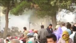Gaz lotsjellës mbi migrantët