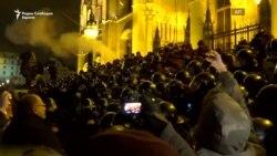 Протести во Будимпешта против законите за работни односи