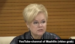 Депутат мажилиса Ирина Унжакова.