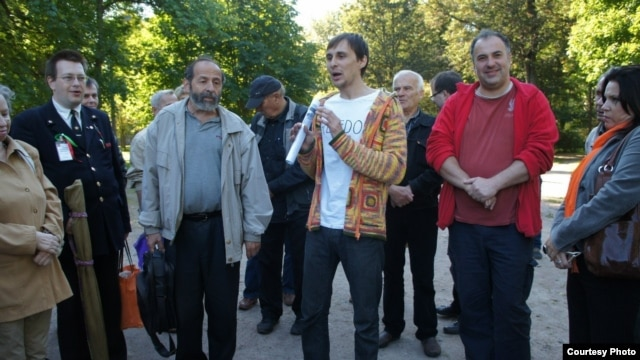 Александр Беляев на гражданском сходе