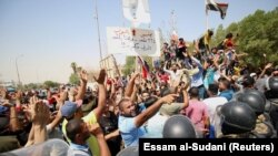 Protestat në Basra të Irakut.