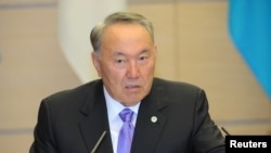 Kazakh President Nursultan Nazarbaev is also expected to meet with representatives of South Korean business circles on his visit to the Asian country (file photo)