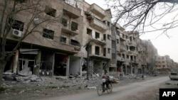 Սիրիայի մայրաքաղաք Դամասկոսի արվարձաններից մեկում, մարտ, 2016թ․