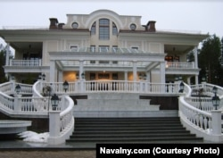 A view of the property located near Lake Valdai northwest of Moscow