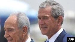 Буш прилетел в Израиль в прекрасном настроениии