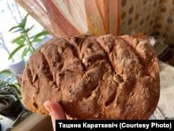 Хлеб, які сьпякла Тацяна Караткевіч