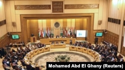 Arab League foreign ministers hold an emergency meeting on U.S. President Donald Trump's decision to recognize Jerusalem as the capital of Israel, in Cairo, Egypt February 1, 2018