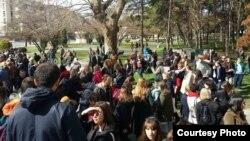 По повод Меѓународниот ден на жената, во Скопје се одржа четвртиот по ред Марш за женски права.