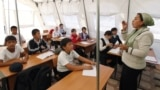 As a new schoolyear begins in Kyrgyzstan, thousands of students will be attending classes in tents or ramshackle buildings. (file photo)
