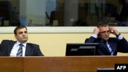 Milan Lukic and Sredoje Lukic at the UN war crimes tribunal