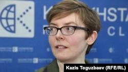 Джоанна Хоаре, исследователь Amnesty Intenational по Центральной Азии. Алматы, 3 марта 2016 года.