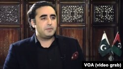 The chairman of the opposition Pakistan People's Party, Bilwal Bhutto Zadari.