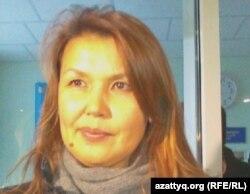 Жамиля Джакишева, жена осужденного бывшего топ-менеджера Мухтара Джакишева. Астана, 12 ноября 2011 года.